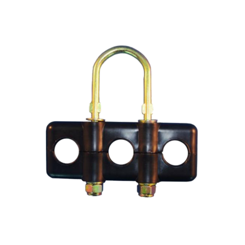 """3 Hole Poly Clamp 1/2"""" Metal"""